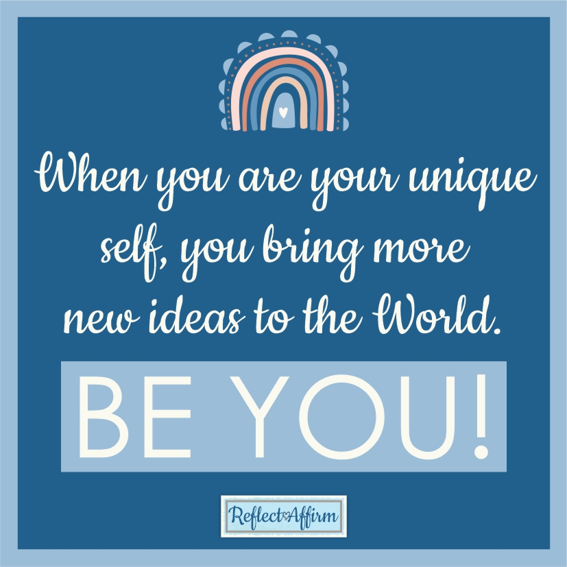 Be true to yourself with these I Am Unique Affirmations. You can achieve anything you set your mind to. From Reflect Affirm