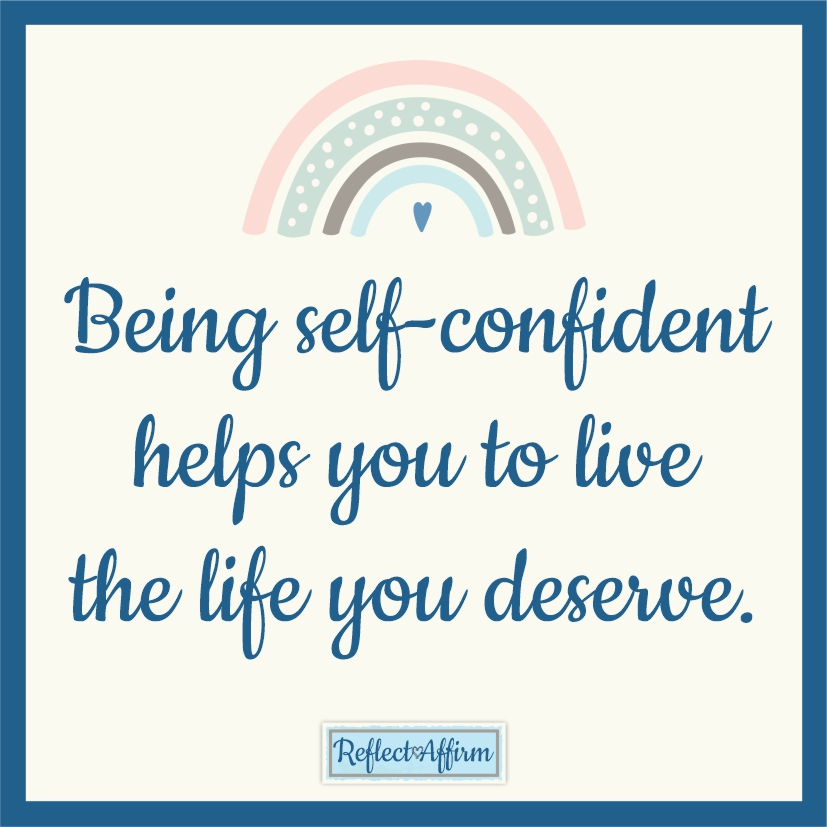 Sometimes you need to stop and figure out how to rebuild your confidence so you can take risks and reach your goals. Reflect Affirm.